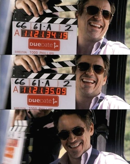 "RDJ filming ""Due Date"""
