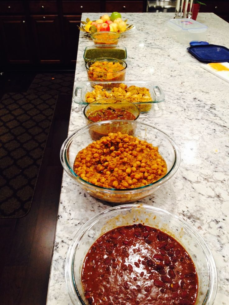 I week Indian food menu: Rajma, chole,mushroom matar, aloo gobhi, aloo matar and palak paneer