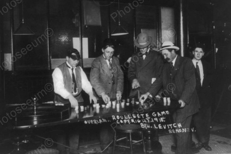Nevada Casino Roulette Game 1910s 4x6 Reprint Of Old Photo – Photoseeum