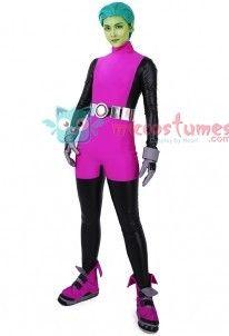 Teen Titans Beast Boy Cosplay Costume Jumpsuit