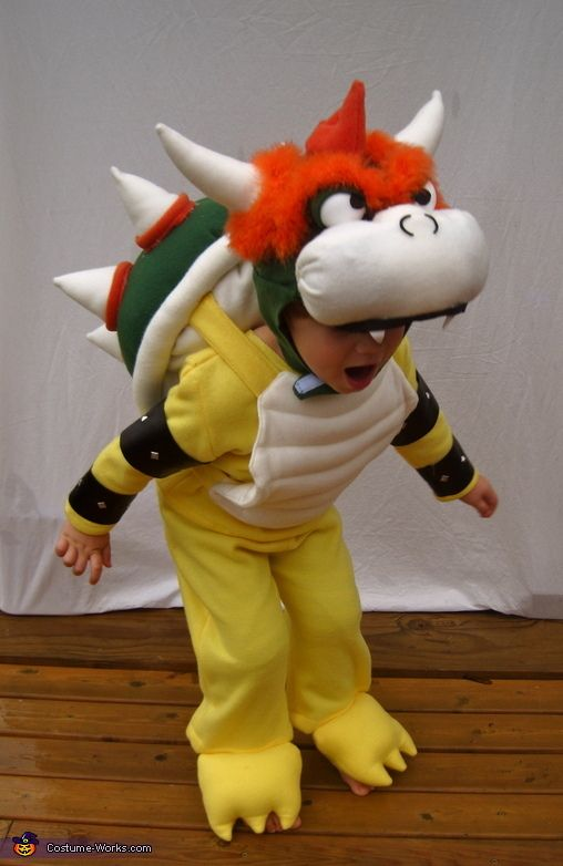 Karly: I made this costume completely from scratch for my 4-year-old son, Henry. He is obsessed with the villain, Bowser (aka King Koopa) from the Mario Brothers video games. I make...