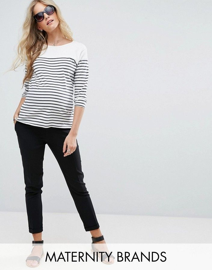 Sehr bequem - klick for more Details. New Look Maternity – Schmale  Stretch-Hose