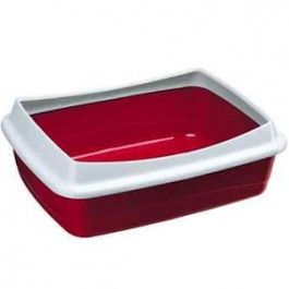 La caja de arena para gatos Nip Plus está diseñada con un marco de plástico extraible, perfecto para insertar una bolsa higiénica.