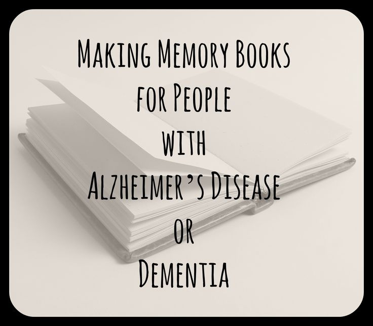 Photo memory books are easy to make and bring back many memories for parents with Alzheimer's disease or dementia. They are a useful tool to bring children and their grandparents together to share cherished memories. Memory books are also helpful for those who are grieving.