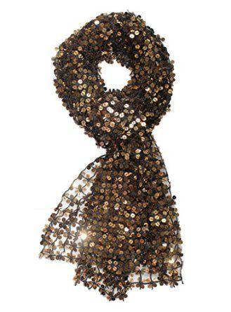 Alivila.Y Fashion Shinning Sequins Wedding Evening Scarf Shawls A05