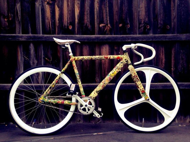 Sticker Bombed Fixie Follow Us Fetchftw Or Visit Us