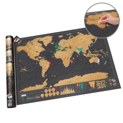 Hol' Dir die Weltkarte zum Rubbeln Deluxe und Du erhältst eine edle und hochwertige Karte im nostalgischen Flair. Für Reise-Fans ein optimales Geschenk. via: www.monsterzeug.de