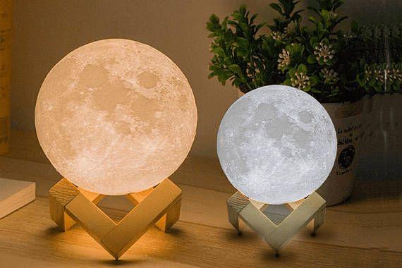 L Impression 3d Personnalise Personnalise Luna Lampe Clair De Lune Offre Limitee Lors De L Achat De La Lamp In 2020 Night Light Lamp Moon Light Lamp Lamp