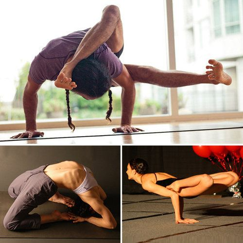 Advanced Yoga Poses. Working on some of these slowly.
