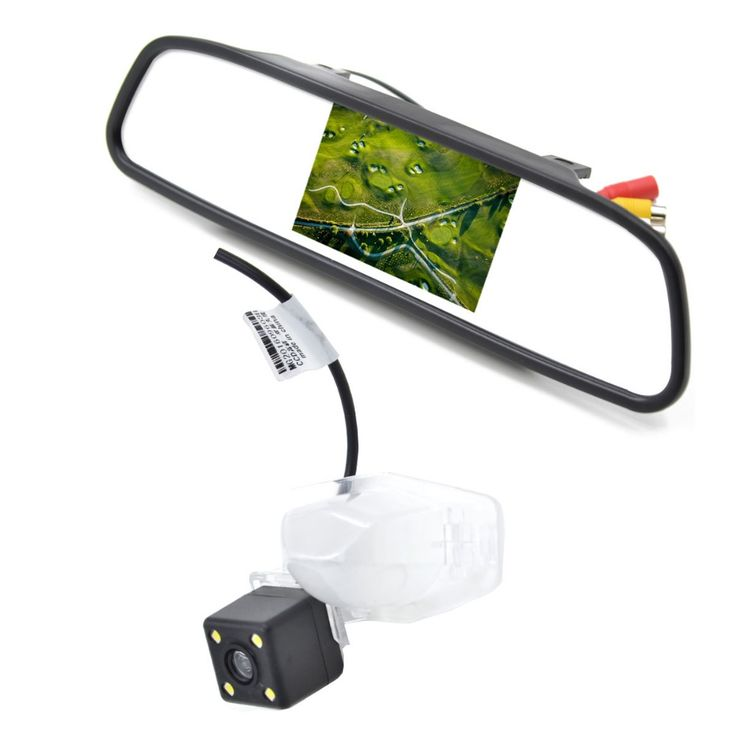 4.3 Inch Car Rear View Mirror Monitor with Night Vision Car Reverse Camera for Honda Jazz Cross Tour Odyssey