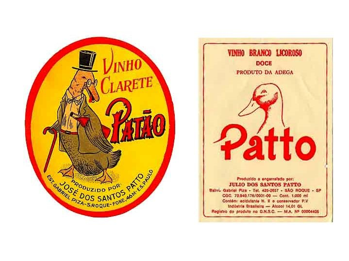 Brazilian wine labels from 1901