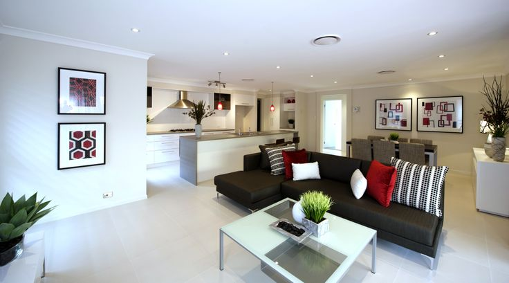 Winter warm colours #red #allworthhomes #living #kitchen #decor