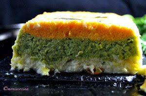 Entre otras, este pastel del blog MONIE COCINA, lleva zanahoria, calabaza y guisantes. ¿Quién dijo que comer verdura era aburrido?