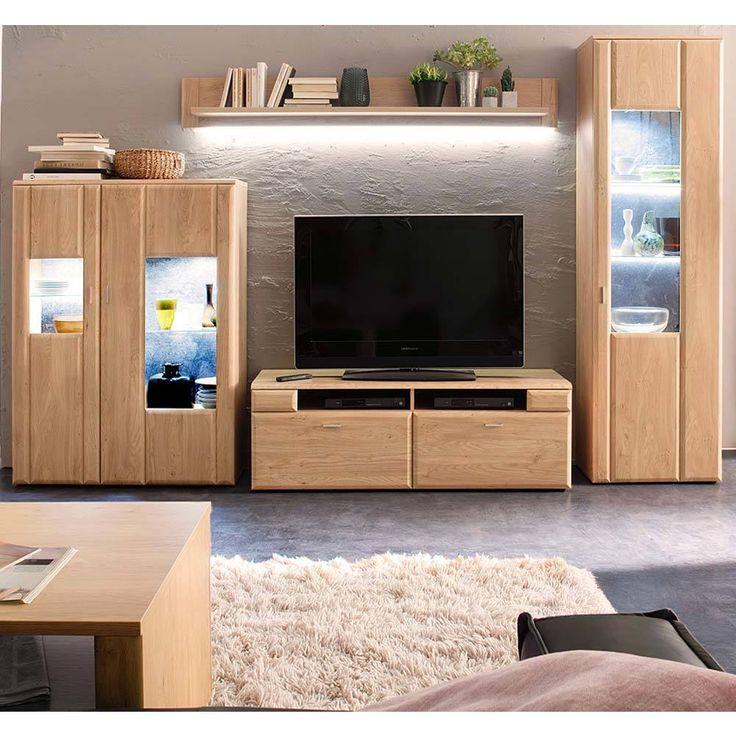 Schrankwand in Eiche 320 cm (4-teilig) Jetzt bestellen unter - schrank für wohnzimmer