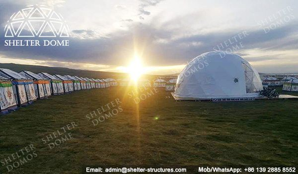 10m Eco living dome tents for sale - Geo dome tents for sale - Dome restaurant - Prefab dome homes for sale - Eco dome homs for sale - Shelter Dome (4)