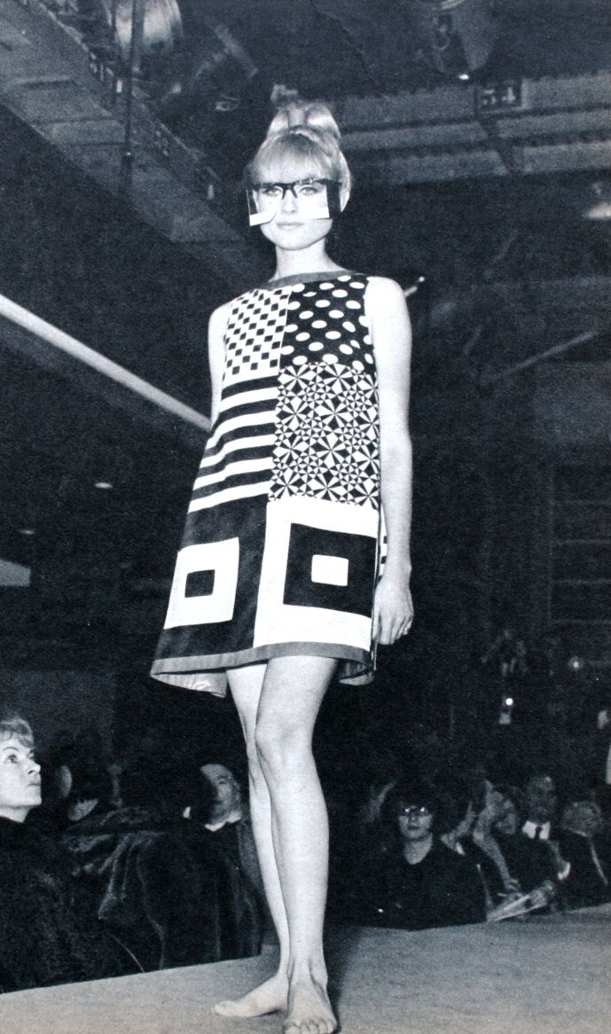 Jacques Esterel Op-Art dress 1966