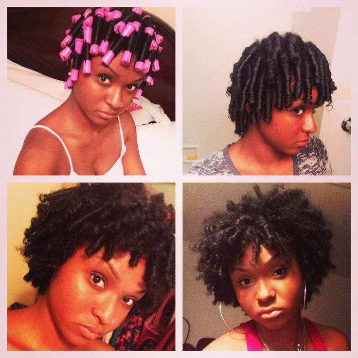 Yellow Perm Rods On Natural Hair