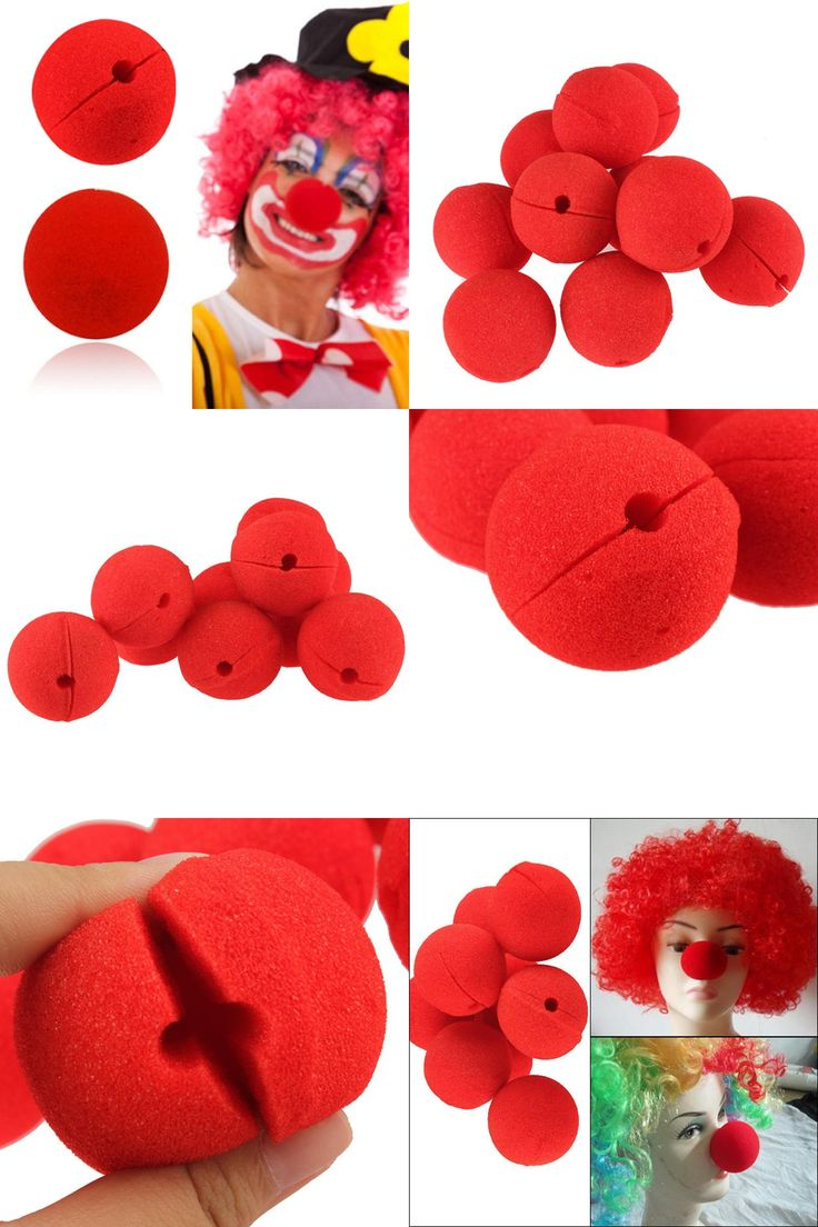 [Visit to Buy] 10Pcs/lot Adorable Red Ball Sponge Clown Nose for Wedding Party Decoration Christmas Halloween Costume Magic Dress Accessories #Advertisement
