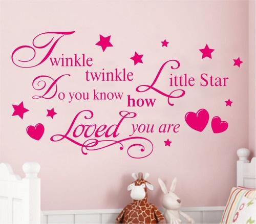 Twinkle Twinkle Little Star Wall Quote