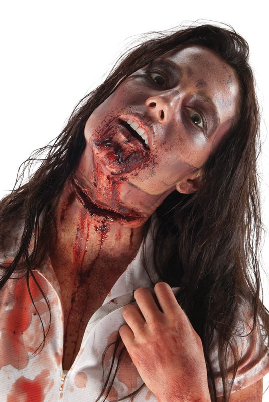 The Walking Dead Slit Throat Make-Up/Prosthetic Accessory $12.95 SFX prosthetics and accessories