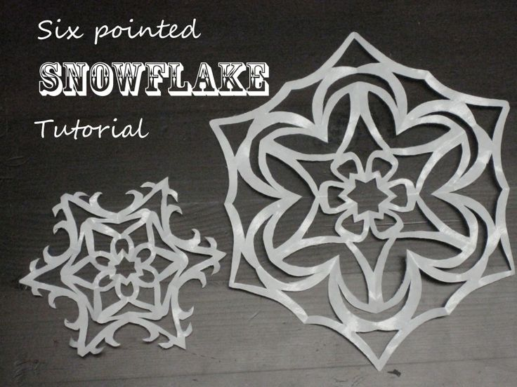 Little Eme: My Very First Tutorial!! SIX pointed Snowflakes