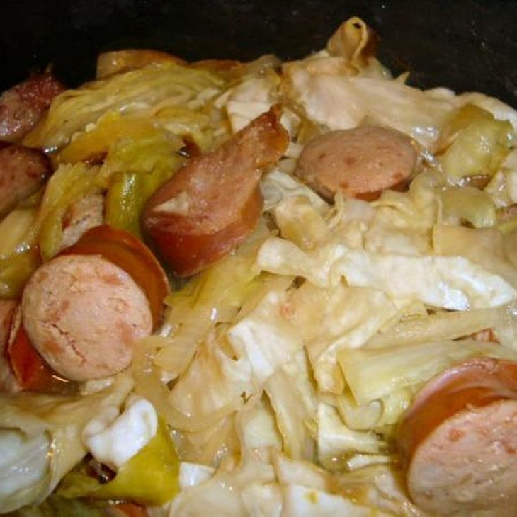 Kielbasa, Cabbage, and Onions (Low-Carb Slow Cooker Crock Pot) Recipe  I didn't like it with Keilbasa, Plan to try it with Bangers links instead.