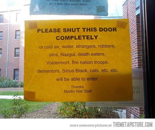Shut this door completely, or else... ;) #autism #aspergers