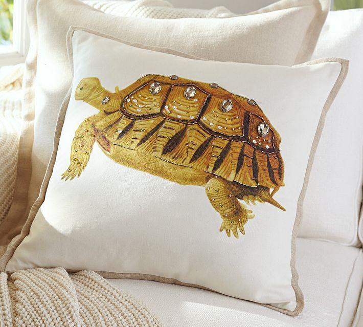 la paz jeweled turtle pillow covers pottery barn decor throw