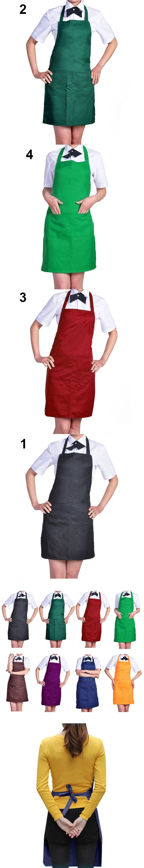 HOT Women's Fashion Easy to Clean Apron with Front Pocket for Chefs Butchers Retail/Wholesale  921E