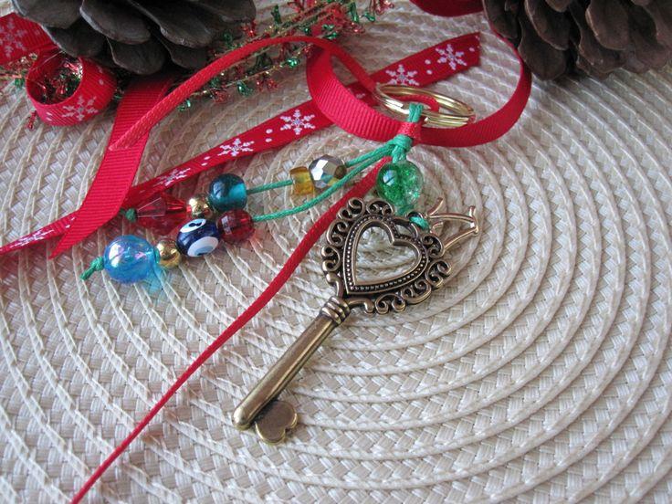 Lucky 17 / Keychain / Home Decor / Lucky Charm by MykonosByBoni on Etsy