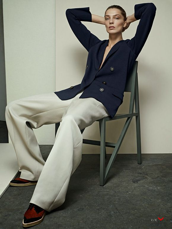 FLATS with EVERYTHING. Daria Werbowy. US Vogue. http://anoteonstyle.com/flats-with-everything/