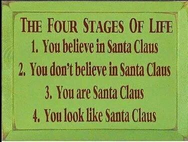 The Four Stages Of Santa Claus