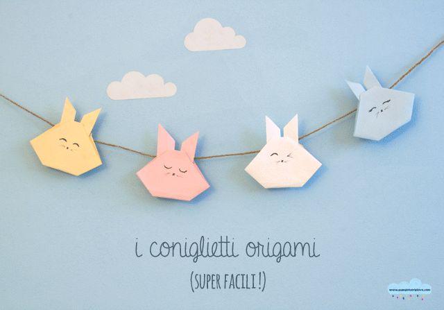 Quandofuoripiove: origami per bambini: i coniglietti per il festone di Pasqua  easy origami for kids: the easter bunny