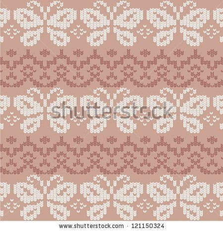 Ornamental pattern for knitting and embroidery - stock vector