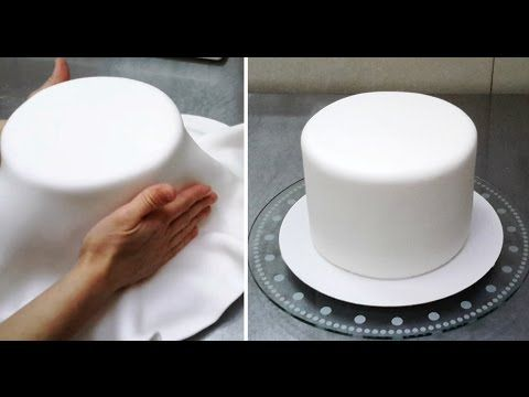 How To Cover A Cake With Fondant by CakesStepbyStep - YouTube