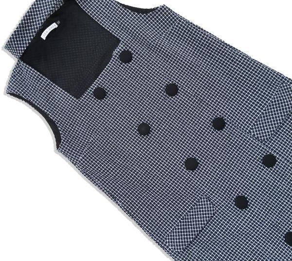 MISS BIRKIN   Tweed Detachable Collar Tuxedo Dress