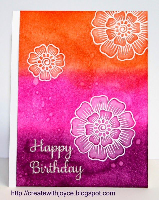 08 15 14; Bright Birthday Card; Altenew Hennah stamp