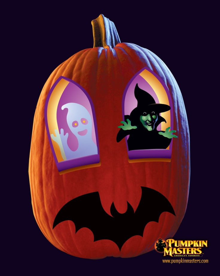 A transfer pattern from the pumpkin masters kids pumpkin sticker