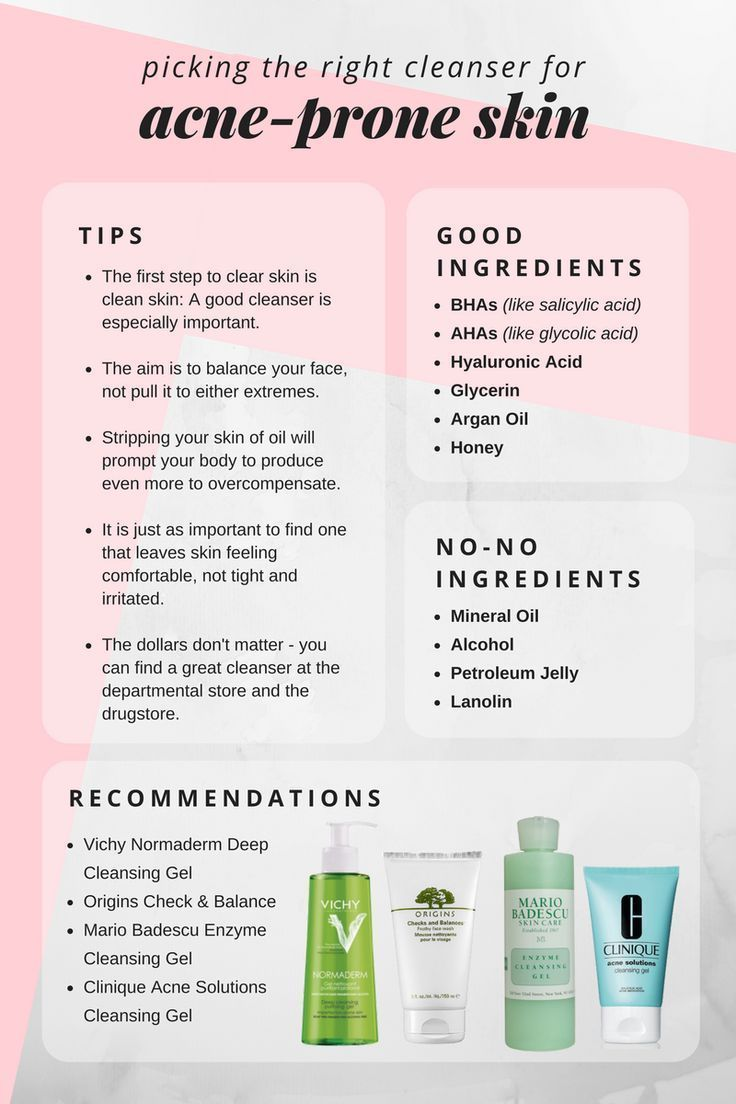 8 Charts That Will Help You Become A Skin Care Expert Best Acne Cleanser All Natural Skin Care Skin Care Acne
