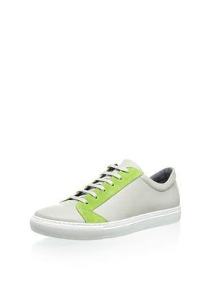 45% OFF The Generic Man Men's Sportsman Low Sneaker (Grey/Lime)