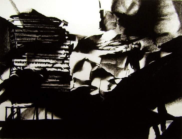 David Leleu, The Set, frame 353, 2011. Charcoal and pastel on paper, 40x53cm.
