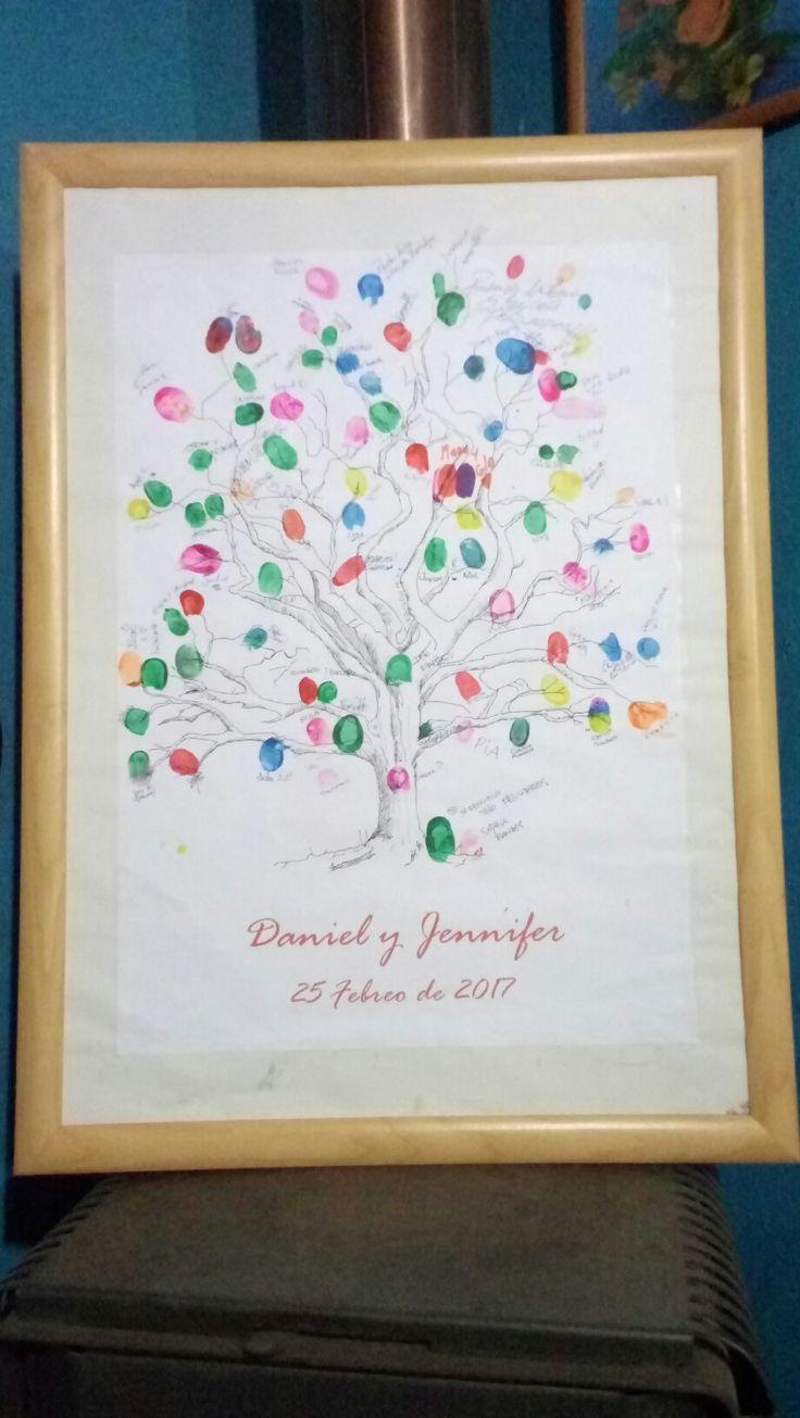 Arbol del Recuerdo Matrimonio Daniel Castro y Jennifer Galves