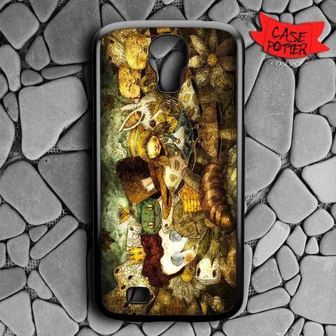 Fan Art Alice In Wonderland Samsung Galaxy S4 Black Case