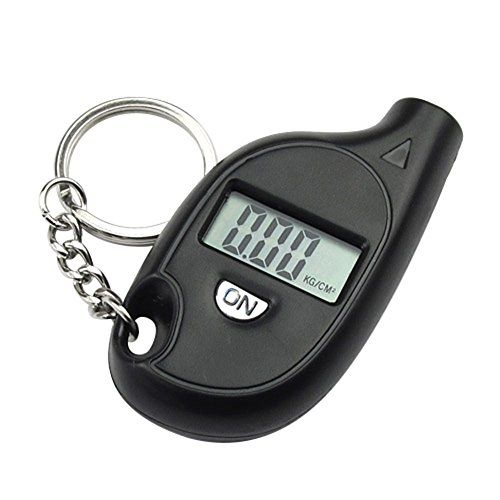 YOUTO Mini Digital LCD Motorcycle Auto Car Tire Air Pressure Gauge Tester  Lcd screen for easy reading  Super mini size car shaped display  Four units: PSI, KPA, BAR, KG/CM2  Can be attached to a key chain ring  High precision and repeatability