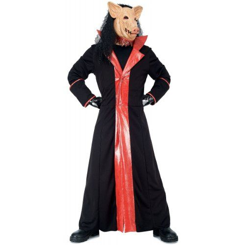 Paper Magic Men's Jigsaw Adult Deluxe Pig Costume And Mask,Black,Small  - Click image twice  - See a larger selection of scary masks at http://costumeriver.com/product-category/scary-masks/ - Halloween, holiday, events, scary, masks