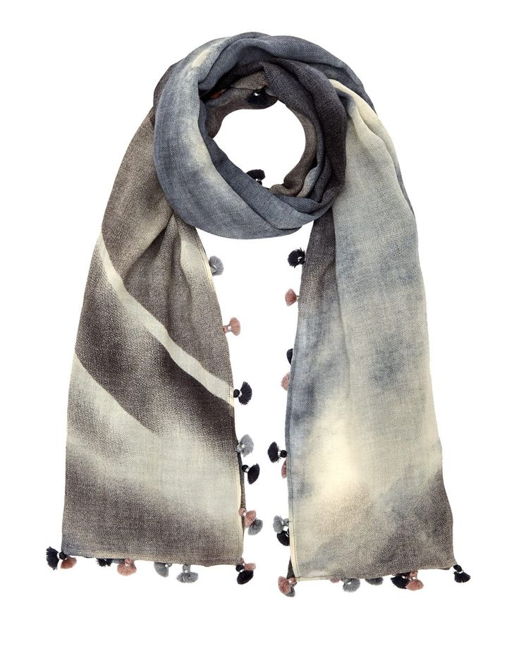 Oversized Merino Wool Scarf - Metal Kaleidoscope by VIDA VIDA