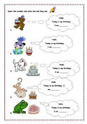 English Worksheets: how old are you?