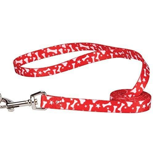 Casual Canine Pooch Pattern Dog Leash - Red Bone