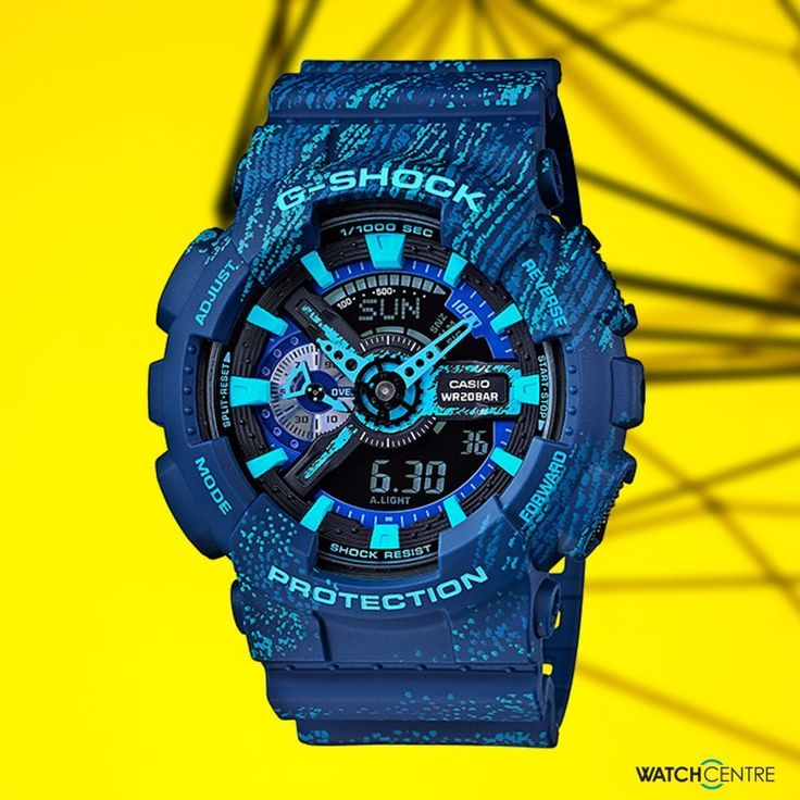 The designs of this model is based on the textured concept used for sneakers and other items. Cases bands and faces are decorated with colorful gradations. G-shock Model No. GA-110TX-2A #gshock