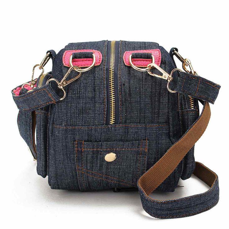 Бренд дизайн демин жан женщин сумки ретро винтажный стиль леди плечо кроссбоди сумки синие джинсы холст слинг Bolsa купить на AliExpress